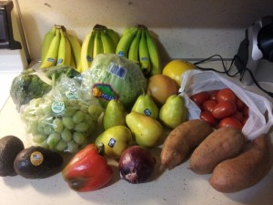 All the fruits and veggies I got today for less than $20