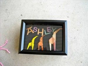 This is a giraffe shadow box I made for my friend Ashley. It's a simple 5x7 inch frame