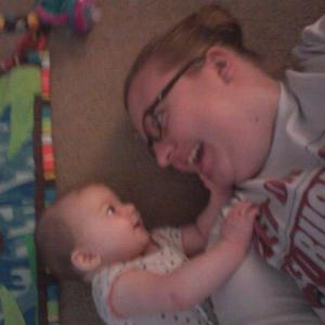 It's blurry but I just love it. You can just see the love and bond we have :)