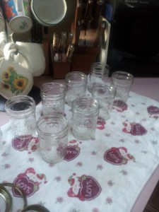 Have the jars clean and ready