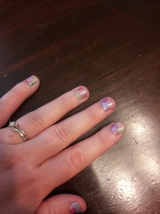 Here's the finished nails! I love them!