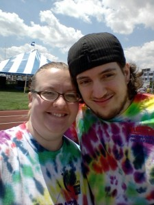 Picture of us together in our tye-dye