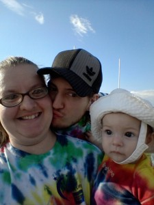 Family picture. Even Peanut wore tye-dye