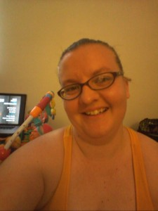 Intense workout plus hot house equals sweaty mama! haha!