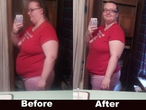Side View of my before and after losing 20 pounds
