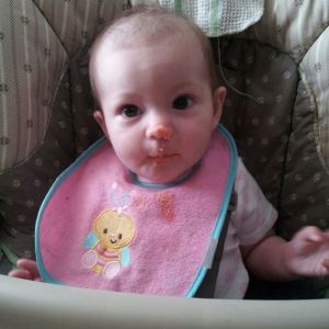 Here is a picture of a messy Peanut just in case you guys missed seeing her :)